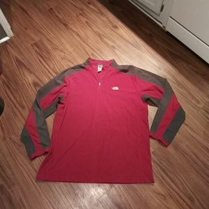 Mens Red THE NORTH FACE TKA100 Fleece Pullover XXL